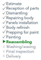 List of repair steps