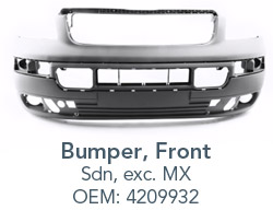 Bumper with specification information