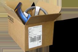 Box of shipped parts