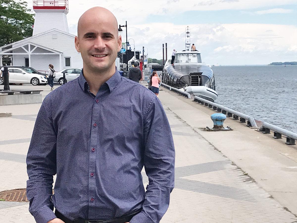 Jonathan Milot, employé chez Progi à Trois-Rivières.