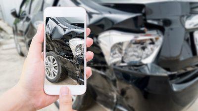 Photo estimate of collision damage